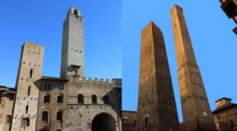 Torri San Giminiano e Bologna @torridibologna